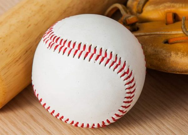The baseball ball must be made of a material that allows it to be hit correctly.