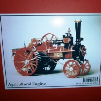 allchin agricultural traction engine assembled and painted