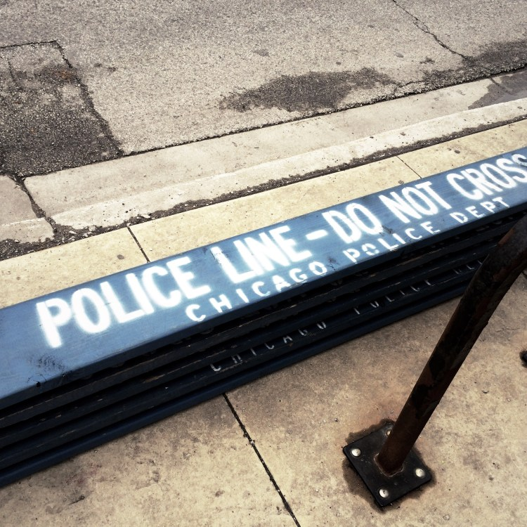 Photo of Chicago Police barricades by Seth Anderson on Flickr, licensed under CC BY-NC-SA 2.0