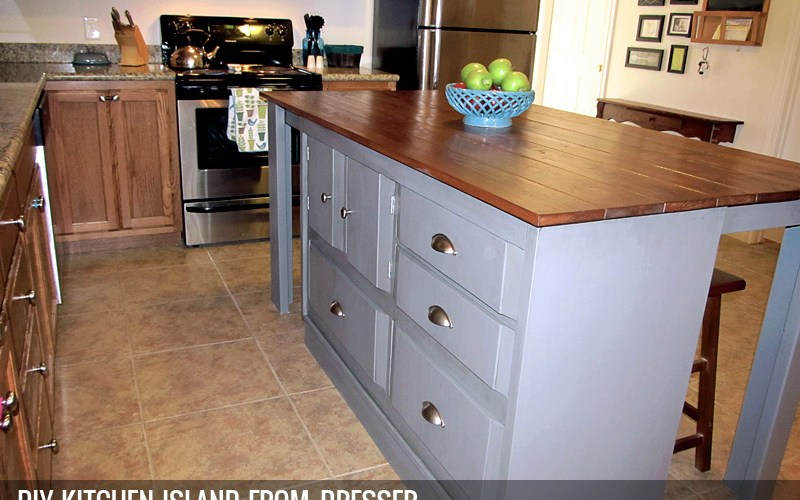 Kitchen Island From Dresser diy kitchen island from a dresser | the good, the bad, and the truth