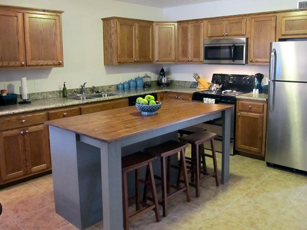 homemade kitchen island ideas diy kitchen island from a dresser the the bad and 18444