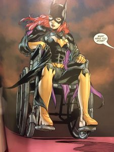 Batgirl in the chair