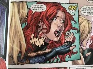 Black Canary slaps Batgirl