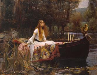 """The Lady of Shalott "" by John William Waterhouse 1849-1917 http://www.tate.org.uk/art/work/N01543"