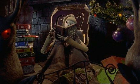 Jack Skellington Reading A Christmas Carol