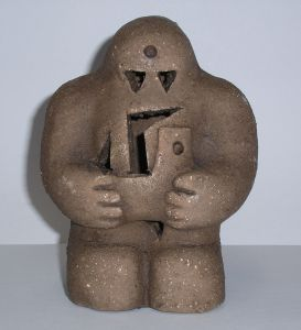 A Prague reproduction of the golem (Wikipedia)