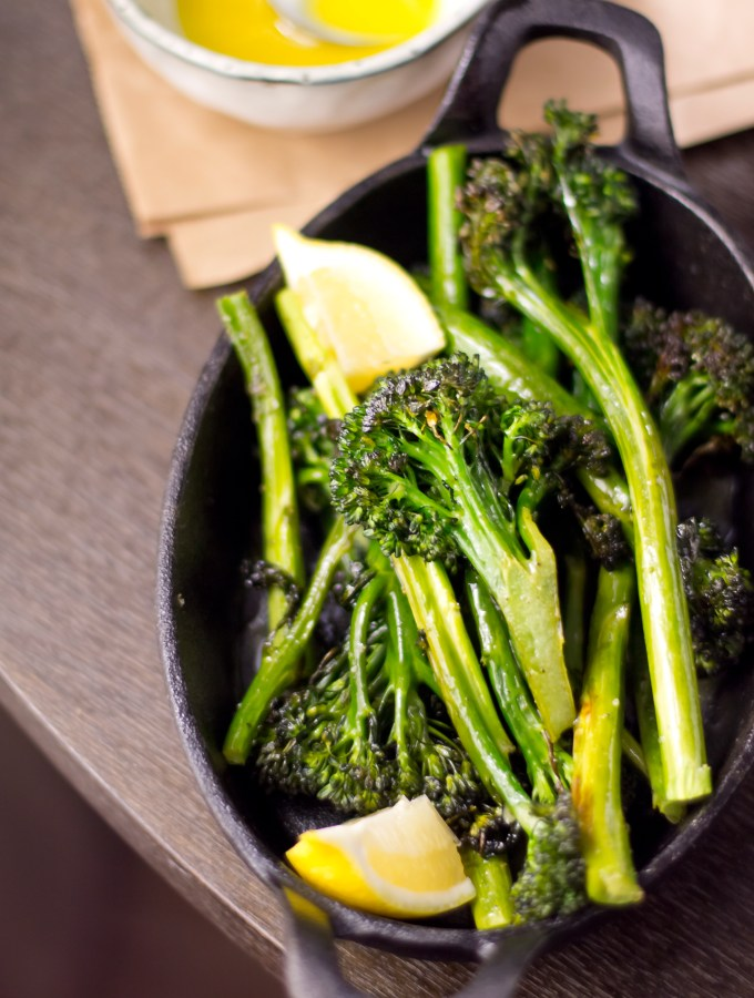Roasted Broccolini with Lemon Vinaigrette