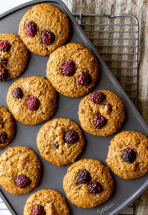 Blackberry Bran Muffins