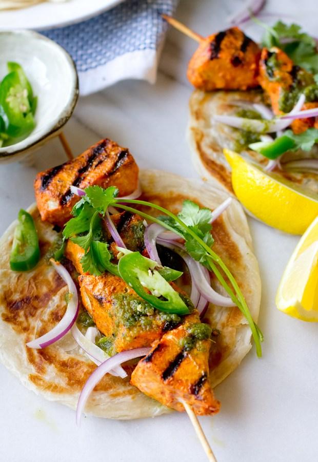 Tandoori Swordfish Wraps