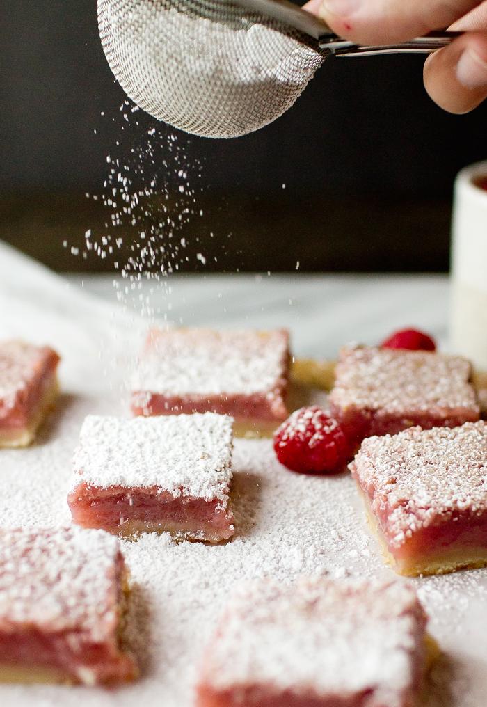 Raspberry Lemon Bars - thegourmetgourmand.com
