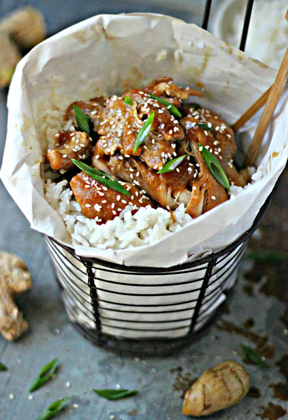 Pineapple Shoyu Chicken with Coconut Jasmine Rice