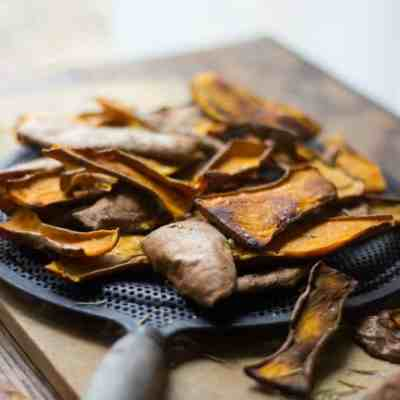 Sweet Potato Skin Chips