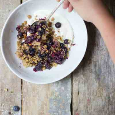 Blueberry Lemon Quinoa Crumble