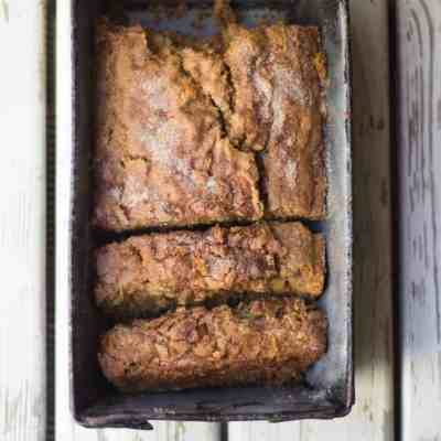 Cinnamon Crunch Zucchini Banana Bread
