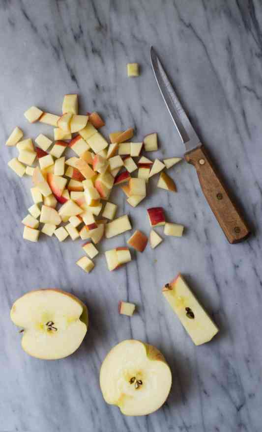 Instant Pot applesauce with apples, pears, cinnamon, maple syrup and vanilla that can also be made in the slow cooker or crock pot.