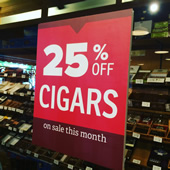 Cigar Sale at The Gourmet Shop