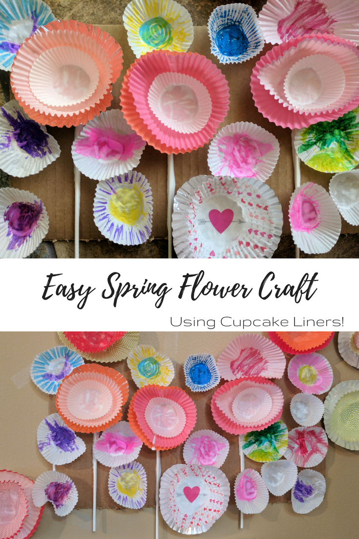 Easy Spring Flower Craft with cupcake liners