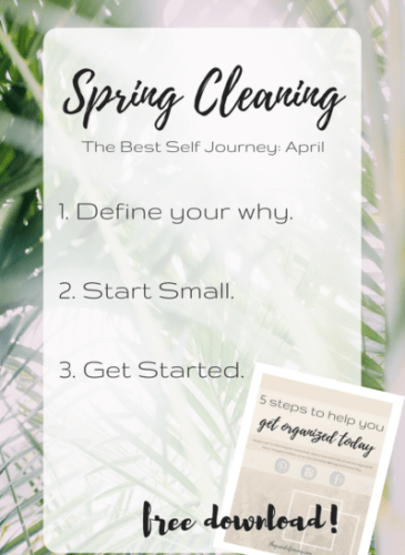 The Best Self Journey: April