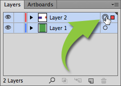 Layer object selection