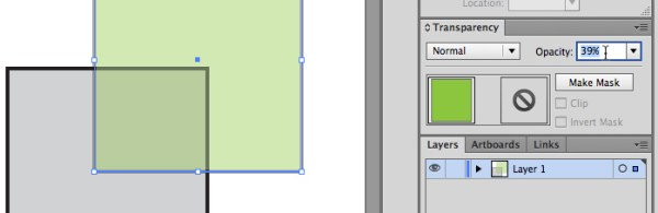 Illustrator transparency shortcut