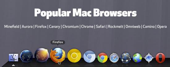 Popular Mac Browsers