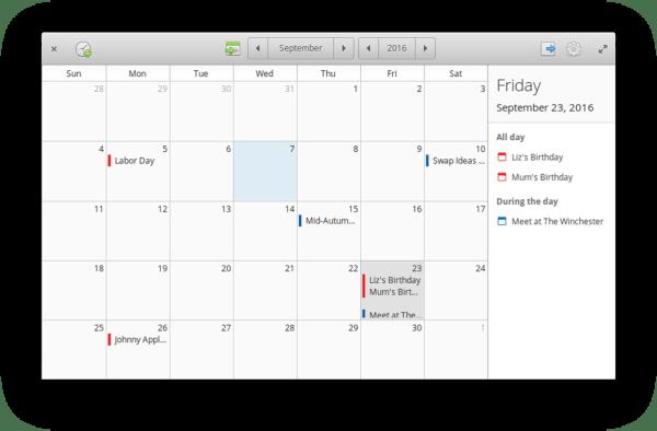 Elementary OS - Calendar