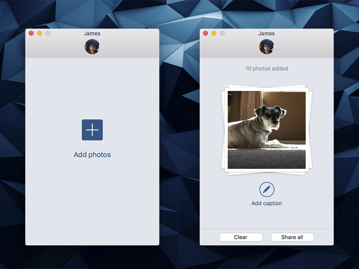 how to add a photo to instagram on a mac