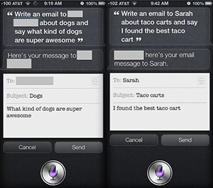 Email with Siri