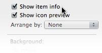 OS X Finder Item Info