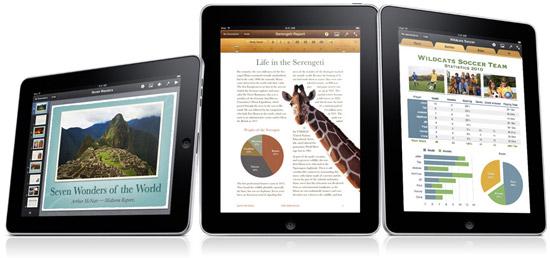 iPad iWork apps
