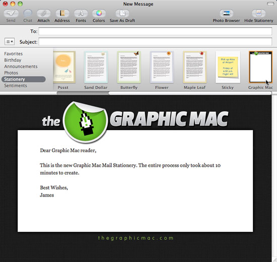 email template mac