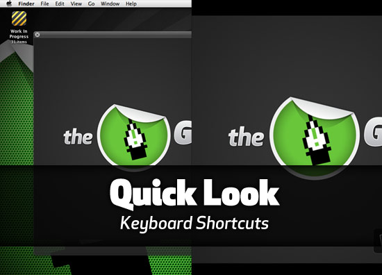 Quick Look keyboard shortcuts