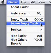 Securely Empty Trash