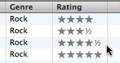 iTunes ratings