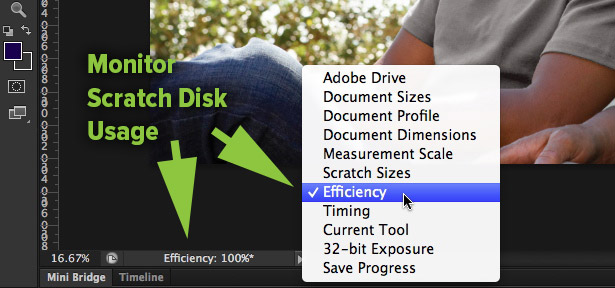 Photoshop Efficiency Indicator