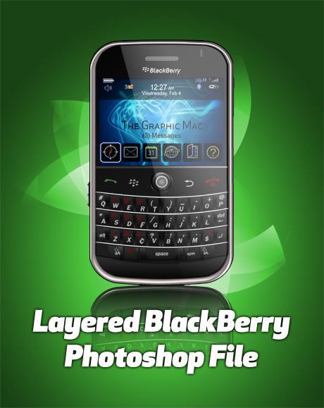 BlackBerry layered Photoshop file