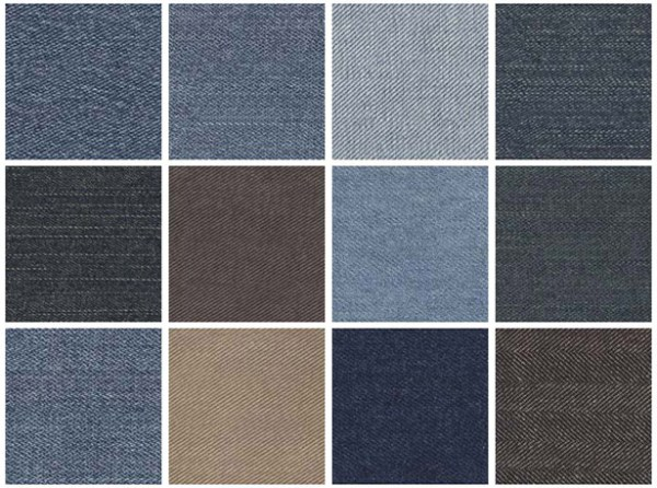 Seamless denim textures