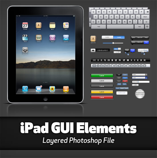 Apple iPad GUI Elements