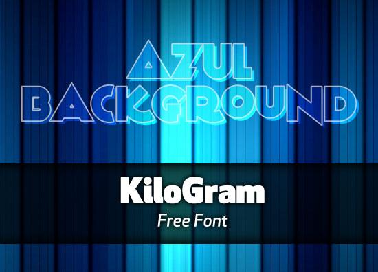 KiloGram font