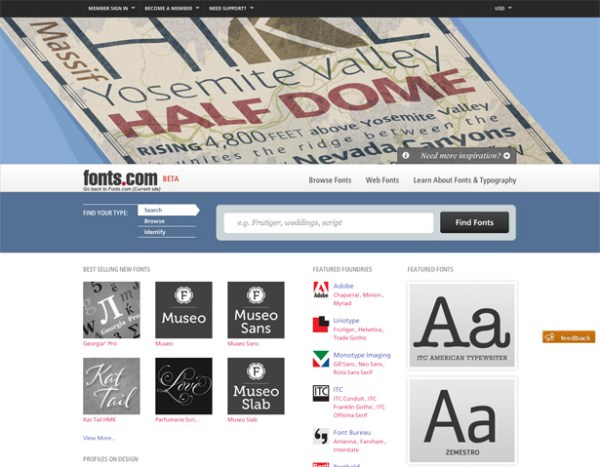 Fonts.com beta site