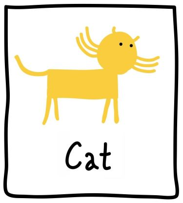 The Graphic Recorder - Visual Vocabulary - Ed Emberley Tribute - Cat