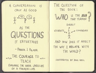 The Graphic Recorder - Doug Neill Sketchnotes - The Courage to Teach - Parker J Palmer - Intro (11) Conversations and Questions