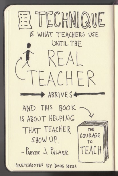 The Graphic Recorder - Doug Neill Sketchnotes - The Courage to Teach - Parker J Palmer - Intro (15) Technique and the Real Teacher