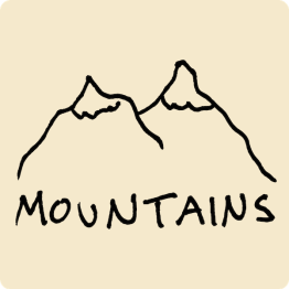 Mountains Visual Vocabulary - sketchnoting visual note taking doodling