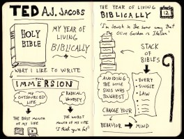 Sketchnotes Of AJ Jacobs Year of Living Biblically