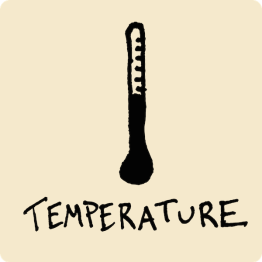 Temperature Visual Vocabulary - sketchnoting visual note taking doodling