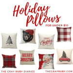 Holiday Pillows For Under $10