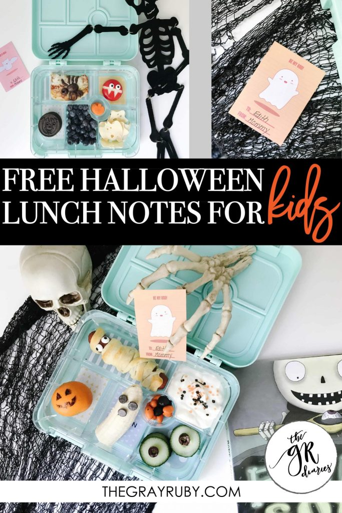 free halloween lunch notes for kids