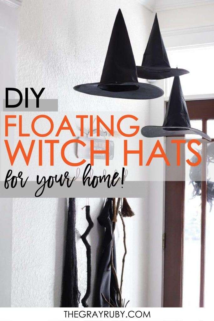 DIY floating witch hats for your home