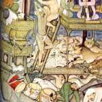 Noah and the Flood with Cat, 16th century, The cat in the art of the Dark Ages